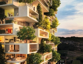 Italian architect designs vertical forest with prefab units by BuroHappold