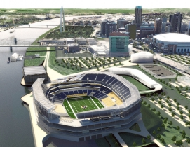 New HOK designs for St. Louis NFL stadium unveiled