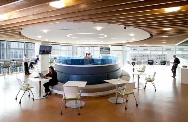 6 factors steering workplace design at financial services for Design strategy firms nyc
